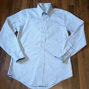 Brooks Brothers | Blue White Mini Gingham Shirt